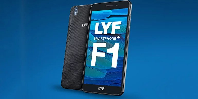 LYF F1 launched with FHD display, 4G VoLTE, CA & Rich Communication Services