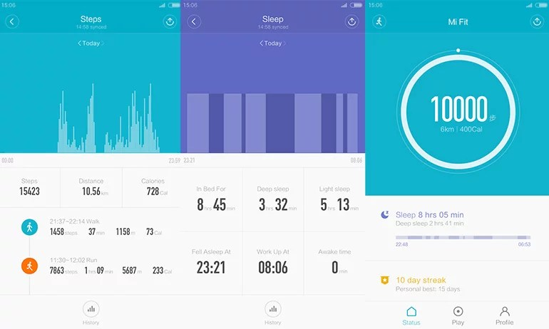 Mi Fit and third party fitness app review