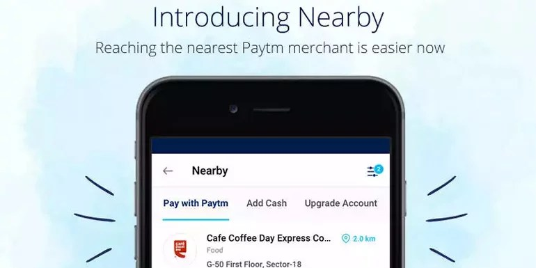 Paytm adds offline merchants discovery with 'Nearby' feature