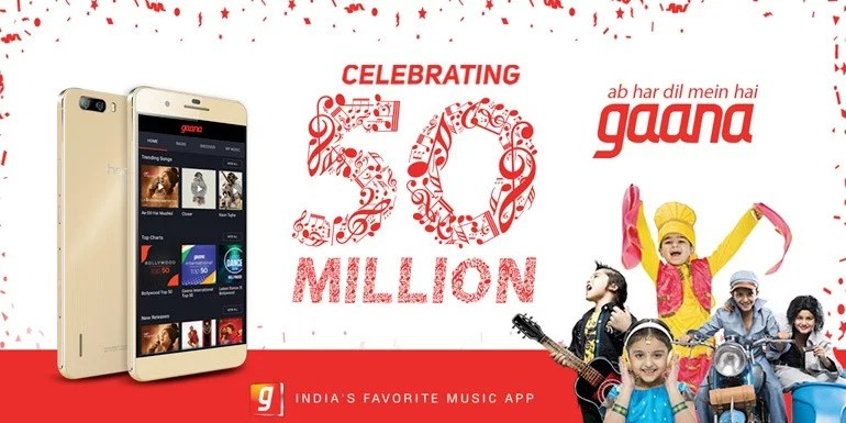 Gaana Indian music app crosses 50 million downloads