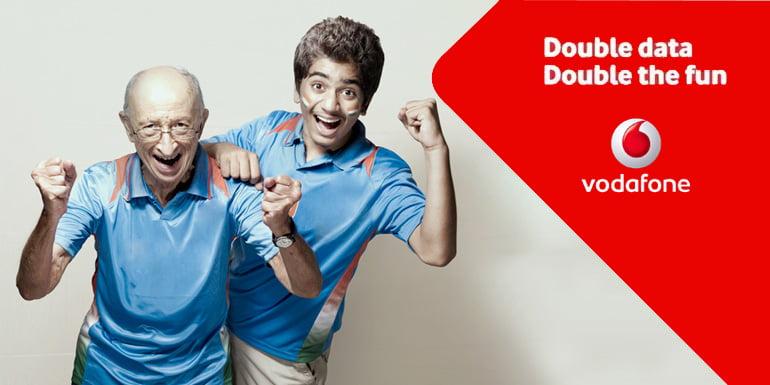 Vodafone doubles 4G data benefits on all 4G data Packs