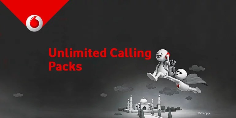 Vodafone India starts offering Unlimited voice calling with bundled 4G data