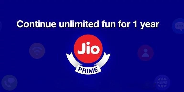 Reliance Jio starts subscription for Jio Prime Membership