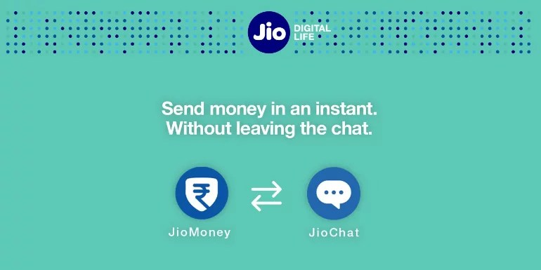 JioMoney wallet gets integrated with JioChat, Send Money on Chat