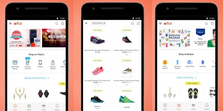 Paytm split up its app, launches online marketplace app 'Paytm Mall'