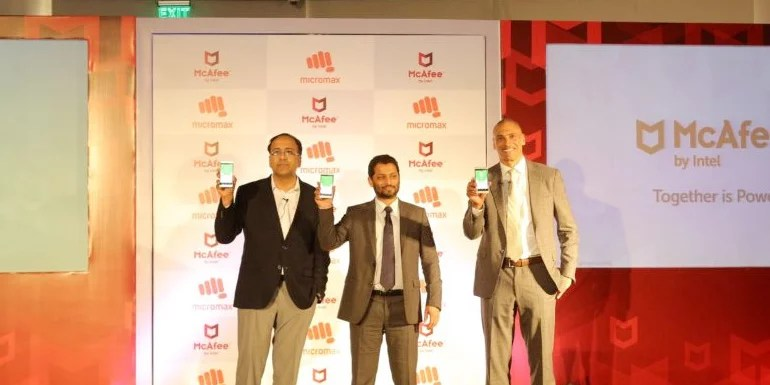Micromax mobiles to come with Intel Security's McAfee Mobile Assistant