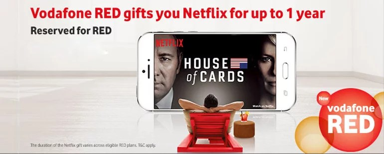 Vodafone RED subscribers to get up to One Year Free Netflix Subscription