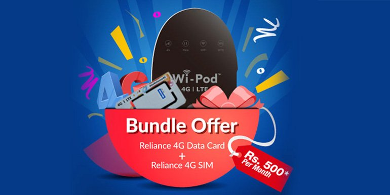 RCom launches bundled offer - 4G Wi-Pod and 1GB data per day for 365 days at Rs 5,199