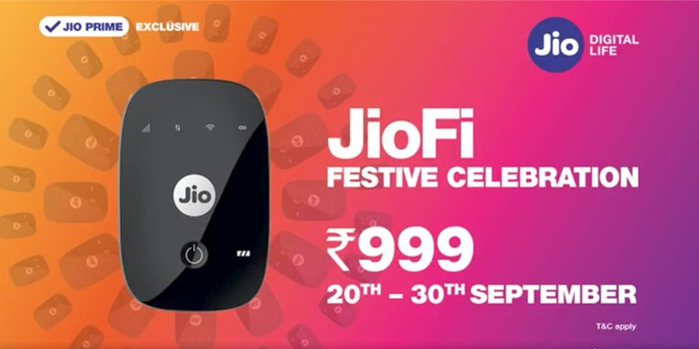 Reliance Jio to offer JioFi 4G Wi-Fi Hotspot Device at Rs 999