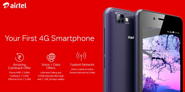 Airtel launches 4G VoLTE smartphone with Unlimited Calls and Daily Data benefits