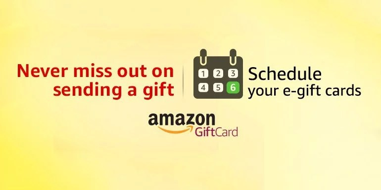 Amazon India Brings e-Gift Card Scheduling - How To Schedule Your Gifts