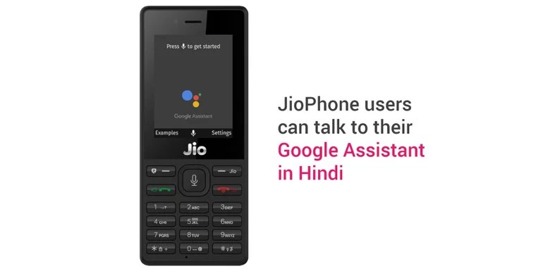 Reliance JioPhone gets a special version of Google Assistant