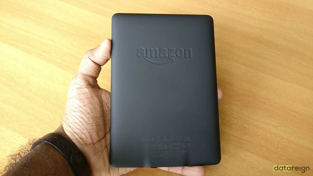 Amazon Kindle Paperwhite 7th Gen e-Reader back side and review