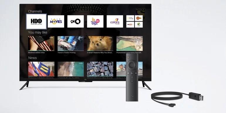 Mi LED Smart TV 4 accessories and remote