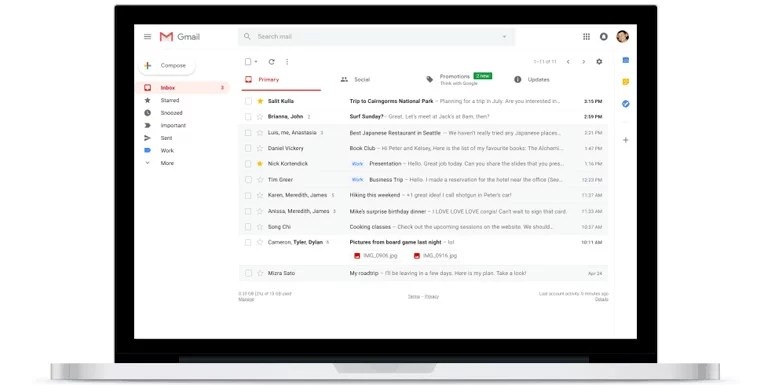 Gmail new features and UI improvements