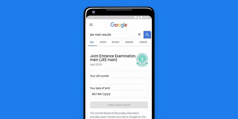 Get your CBSE exam results right on Google Search