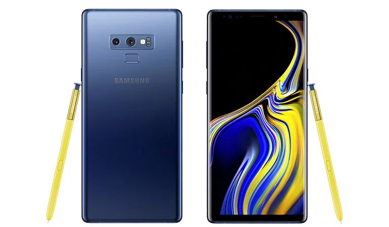 Samsung Galaxy Note9 android smartphone