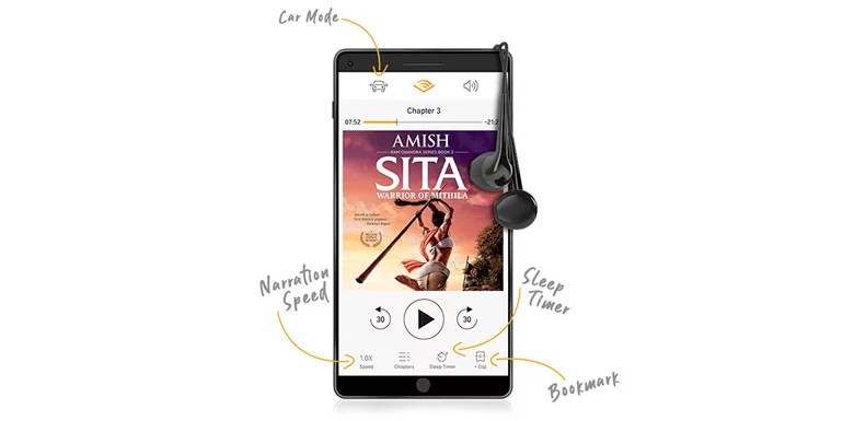 Audible India mobile app features