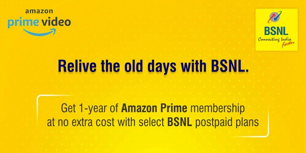 BSNL Amazon Prime subscription Promotional Offer