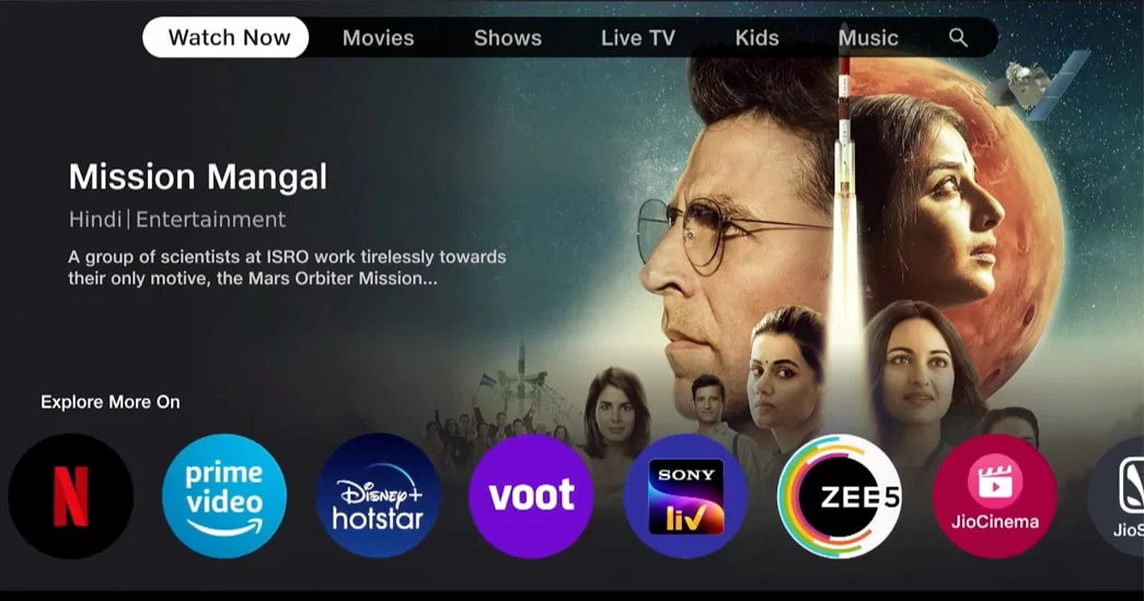 Jio TV plus features, OTT app list and pricing