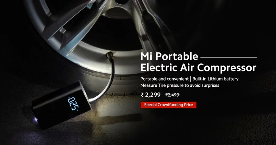 Mi Portable Electric Air Compressor launched in India