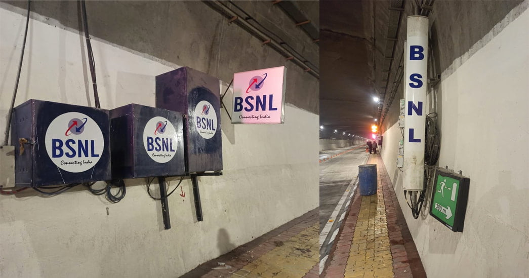 BSNL 4G in Atal tunnel in Rohtang