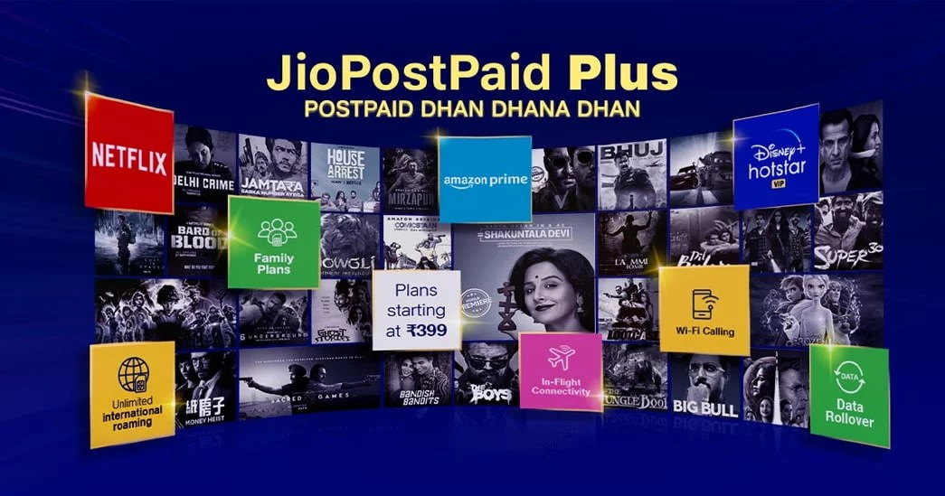Jio PostPaid Plus starting at Rs 399 and packing premium features