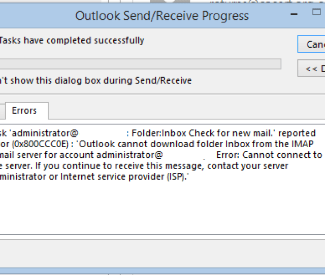 Some Errors Are Preventable But Some Needs To Be Handled After Its Occurrence One Such Outlook Error That Comes Most Commonly Is Imap Error 0x800ccc0e