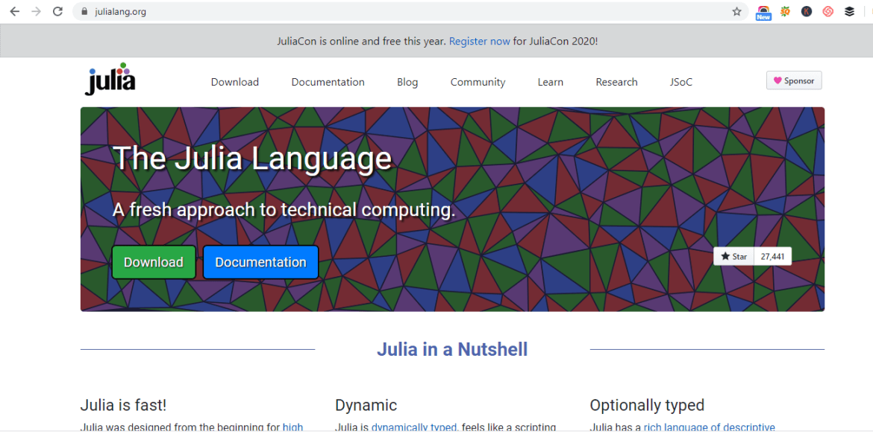Machine Learning Programming Language -Julia