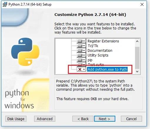 Python 2.7.14 Setup3