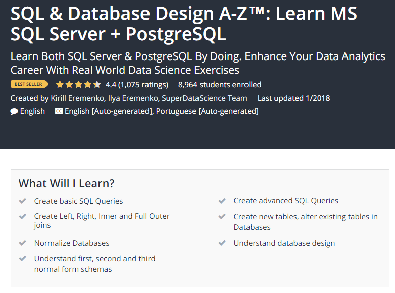SQL Database Design A Z™ Learn MS SQL Server PostgreSQL Udemy.png
