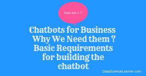 Chatbots for Business : Why We Need them ? [Infographic]