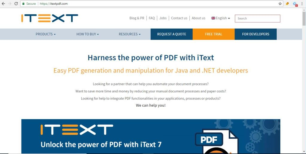 java PDF Libraries IText