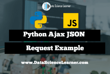 Python Ajax JSON Request Example