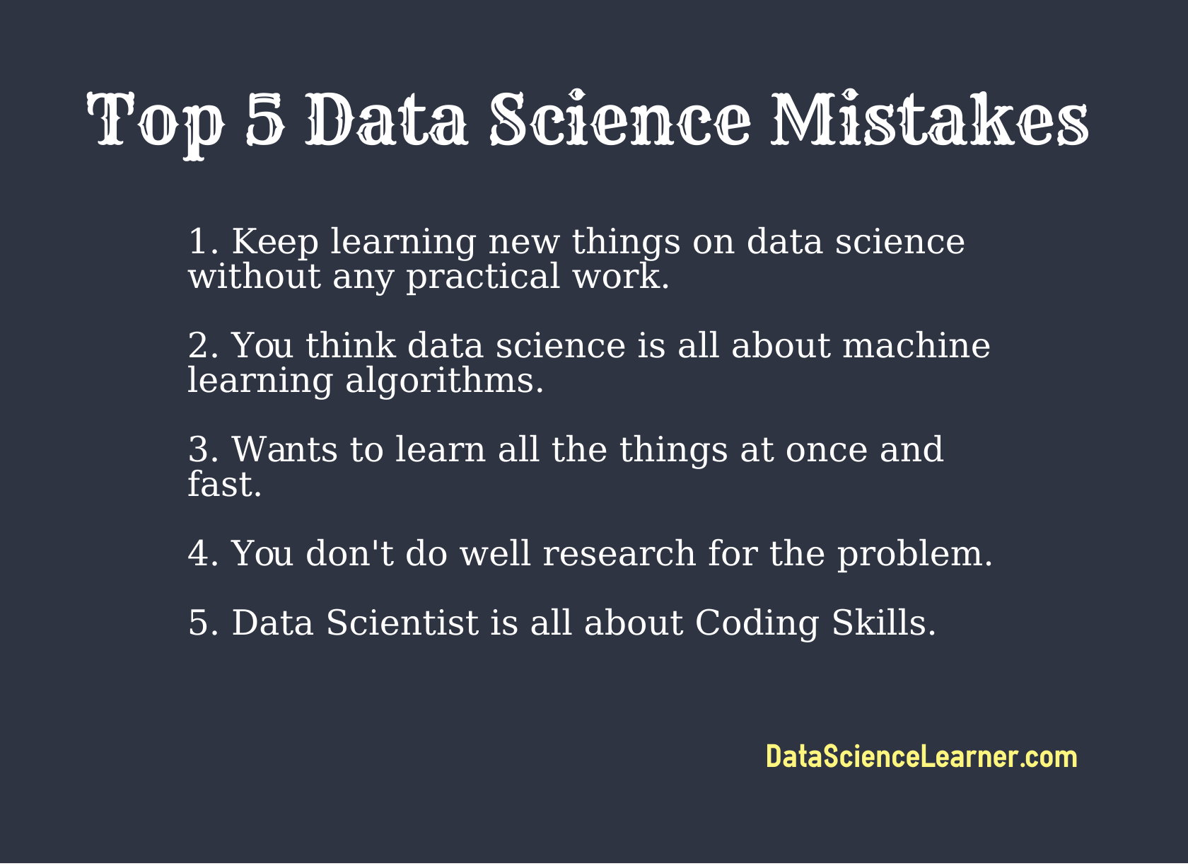 Data Science Mistakes
