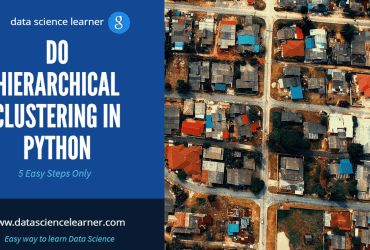 HIERARCHICAL CLUSTERING IN PYTHON