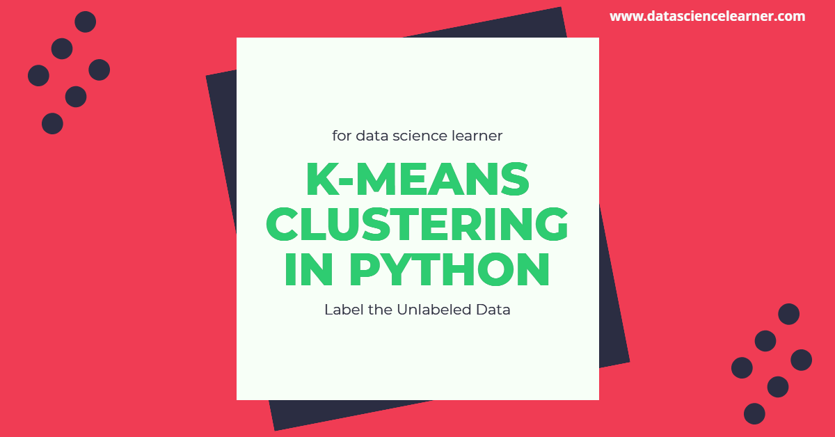 K MEANS CLUSTERING IN PYTHON