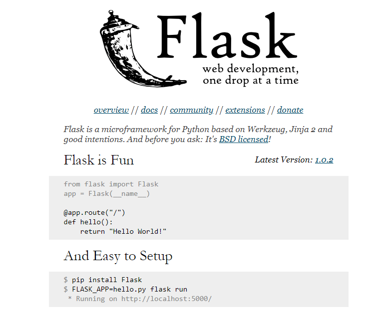 flask framework