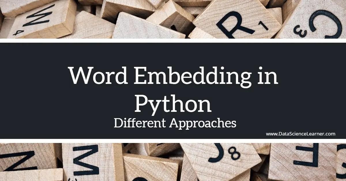 Word Embedding in Python