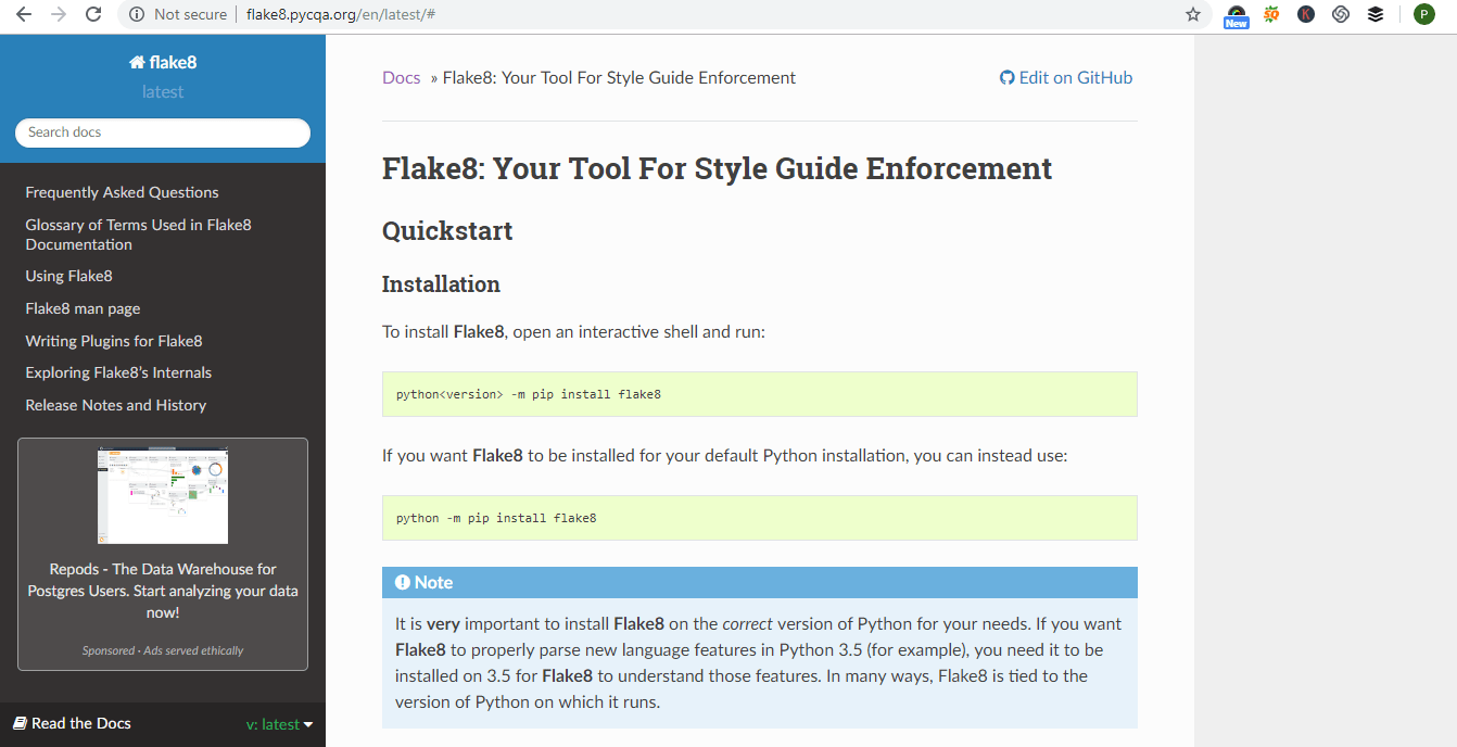 Python-code-Linters-flake8