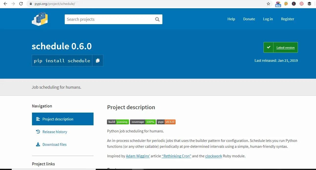 implement Scheduler in Python