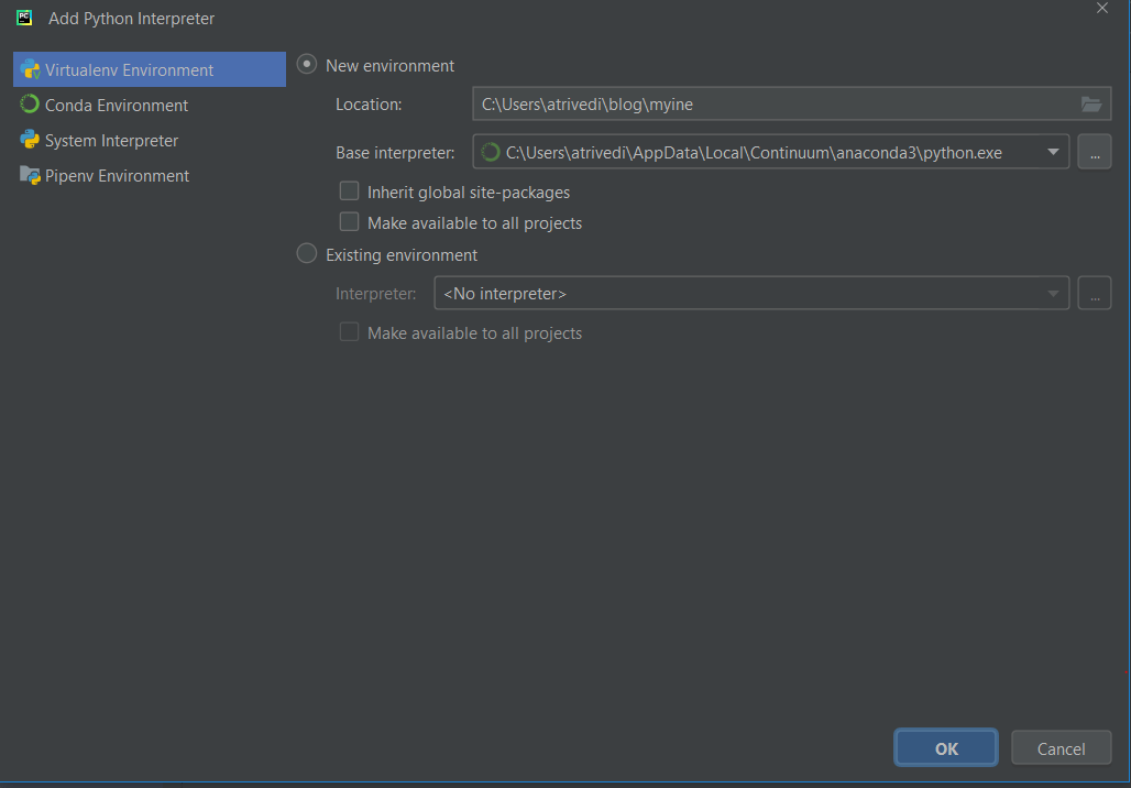 how to change python version in pycharm step 4.
