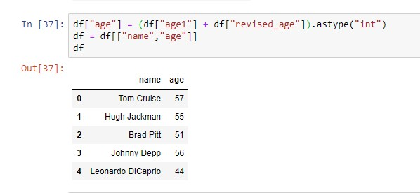 merging columns with approach 1