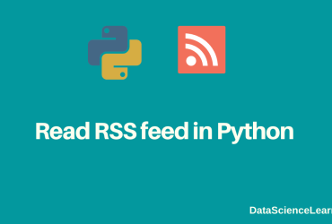 Read RSS feed in Python