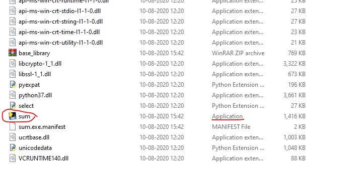 Exe File for the Python Script