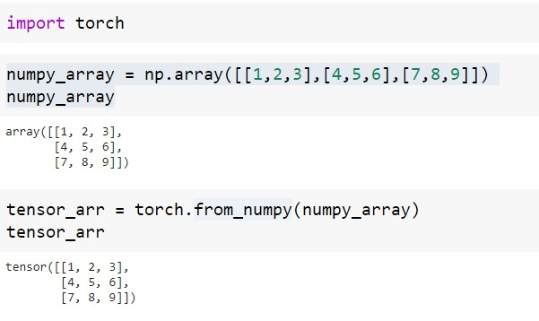 Conversion of NumPy array to PyTorch using CPU