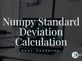Numpy Standard Deviation Calculation featured image