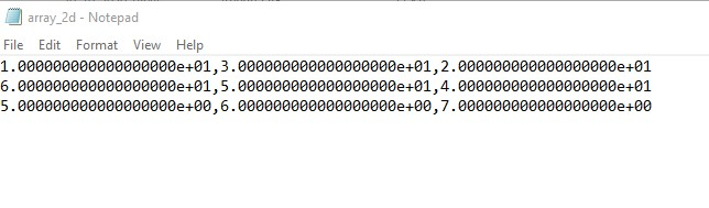 Saving 2D Numpy Array to text file