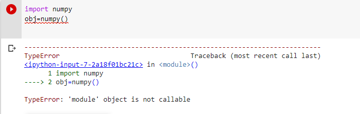 Typeerror module object is not callable cause