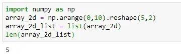 Checking 2D Non-Empty Array using len() method